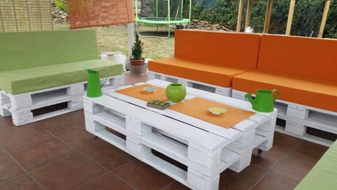 Zahradní nábytek z palet